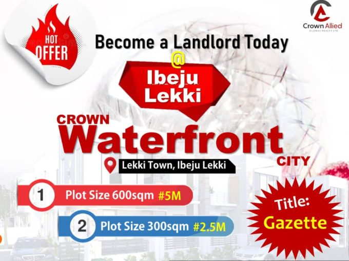 Crown Waterfront City – Land Only
